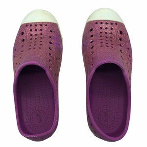 Native shoes water play pink glitter Girls Size 13